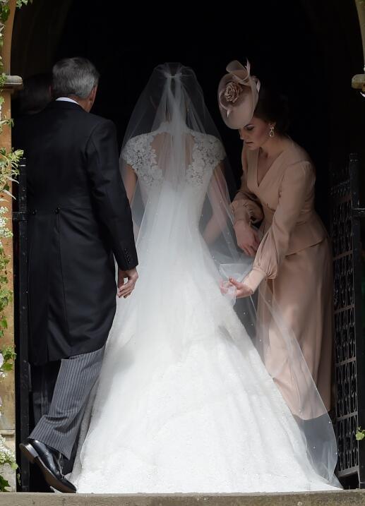 Ahora fue el turno de Kate Middleton, apoyó en todo a su hermana para qu...