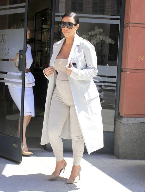 Fotos de Kim Kardashian durante su segundo embarazo.