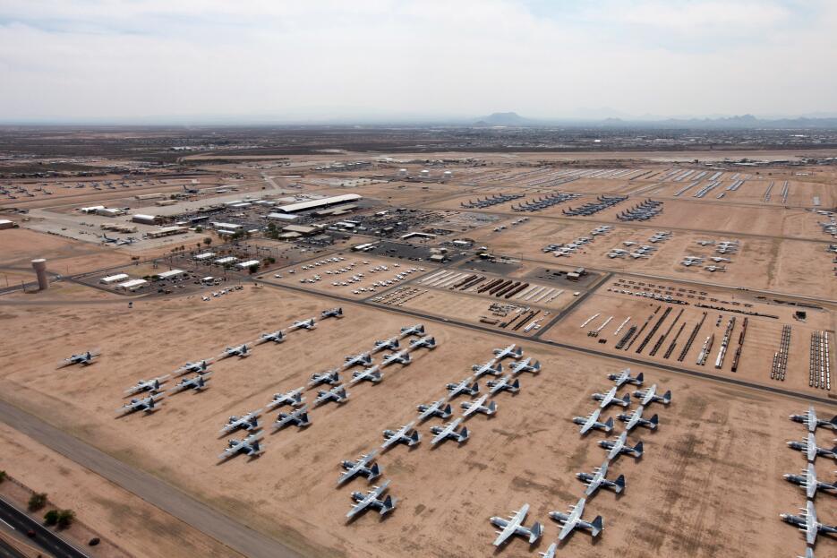 El cementerio de aviones más grande del país está ubicado en Tucson, Ari...