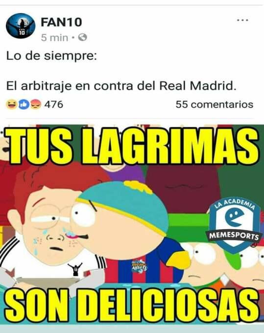 El Real Madrid también se llevó su 'memiza' en el partido ante el Totten...