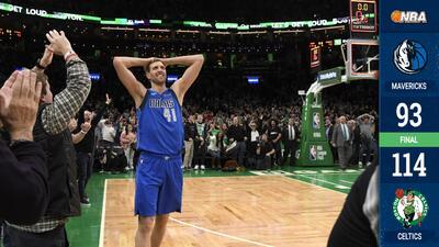 Sin despeinarse, los Celtics superan a los Mavericks en noche especial para Nowitzki