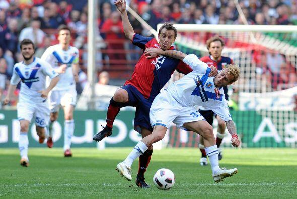Y convirtió uno de los tres tantos con los que derrotaron al Brescia.
