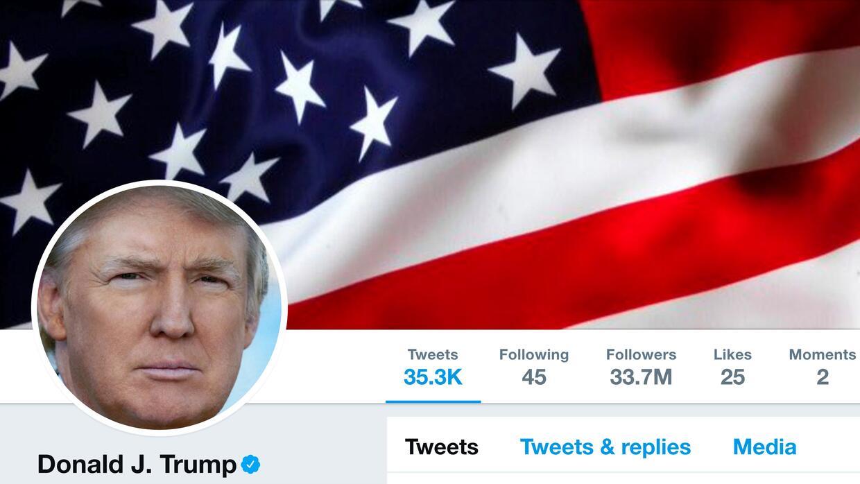 Un grupo demandó al mandatario Donald Trump por bloquear en su cu...