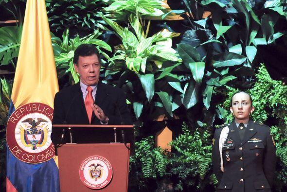 La información fue difundida por el presidente de Colombia, Juan...