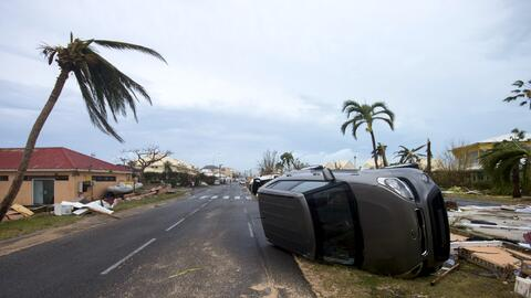 El huracán ya mostró su fuerza en algunas islas del caribe...