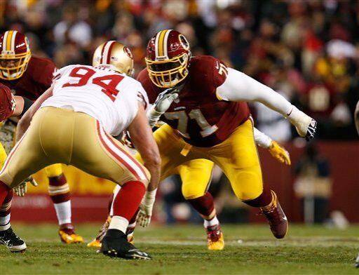 Trent Williams, tackle ofensivo de los Washington Redskins (AP-NFL)
