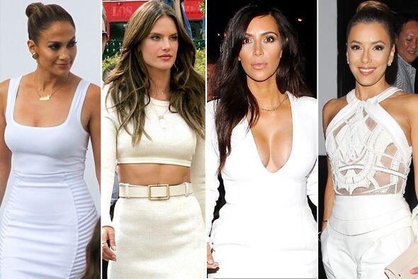 """Vestiditas de blanco, guapísimas y muy """"angelicales"""", así lucen estas fa..."""