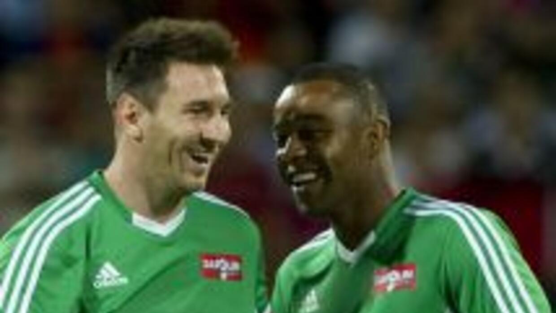 Lionel Messi y 'sus amigos' vencieron 9-6 a un equipo de 'Resto del mund...