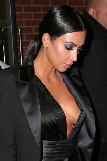 Y claro, Kim tenía que llamar la atención.