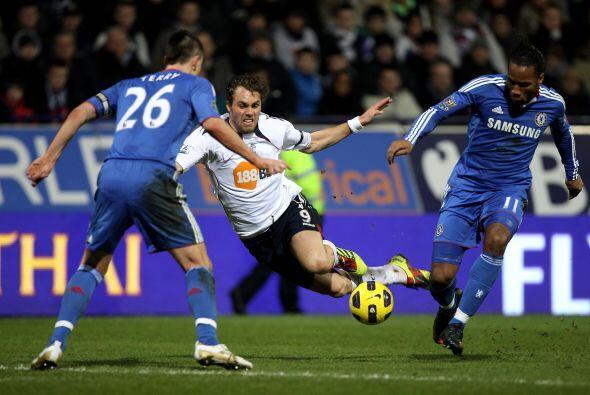 Elprimer gol del encuentro llegó al minuto 11.