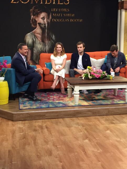 Actores de 'Pride and Prejudice and Zombies' en Despierta América