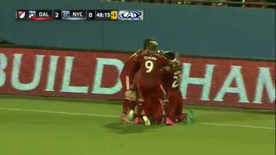 Michel hace un gol olímpico para FC Dallas ante New York City FC