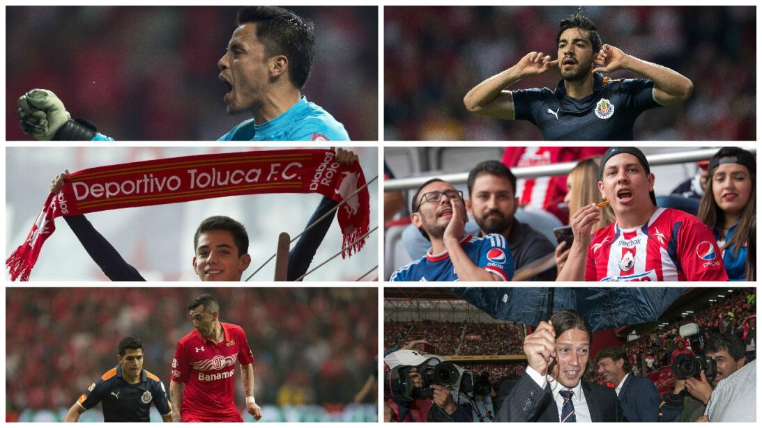 Empate entre Diablos y Chivas que favorece a Guadalajara Collage Toluca...