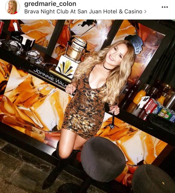 Gredmarie Colón celebró suus 28 años en la discoteca Brava