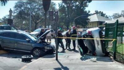 El chileno se impactó con otro auto