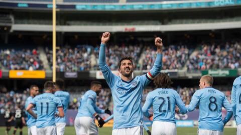 David Villa marcó dos goles en una gran tarde del ataque de NYCFC.