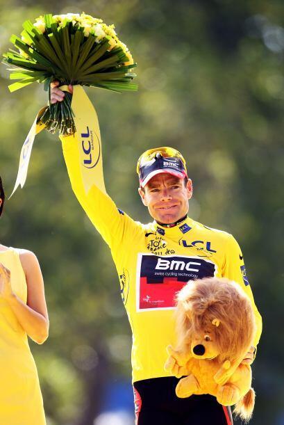 Cadel Evans, del equipo BMC, se convirtió en el primer australian...