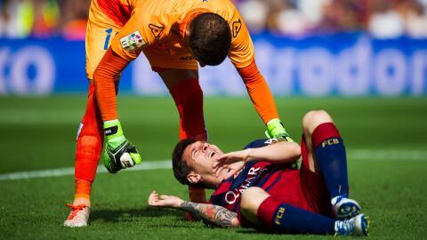 Messi se lesionó ante Las Palmas