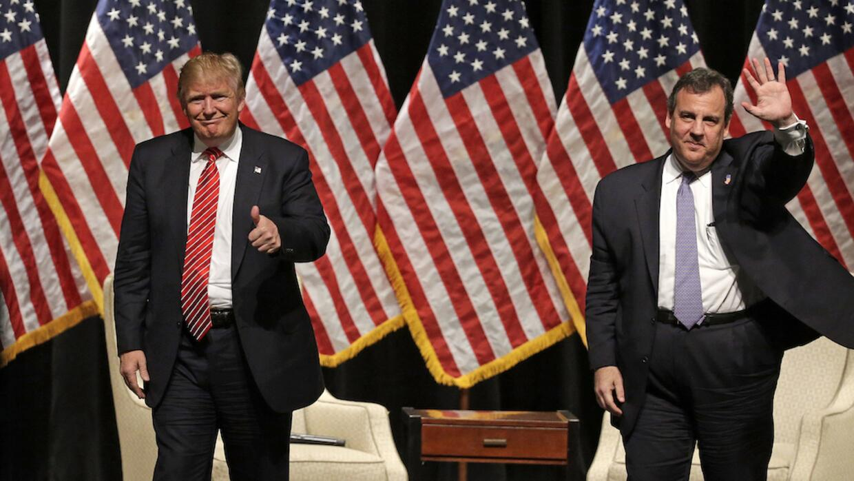 Donald Trump y Chris Christie.