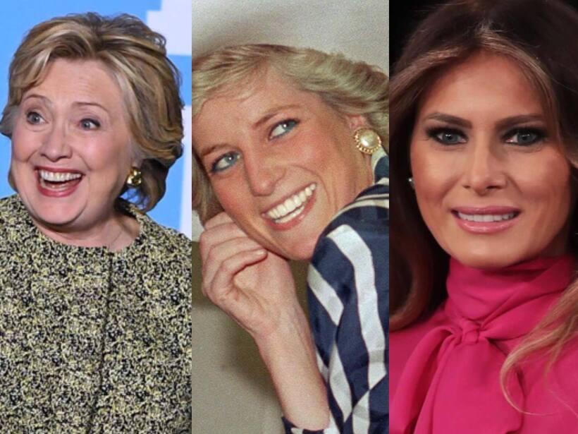 Clinton, Lady Di y Melania