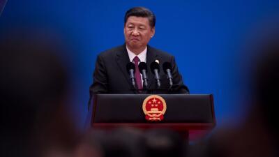 El presidente Chino, Xi Jinping, en rueda de prensa sobre los resultados...