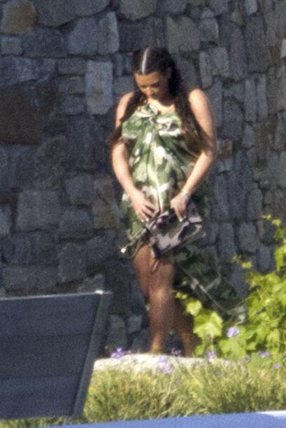 Los paparazzi la captaron en bikini.