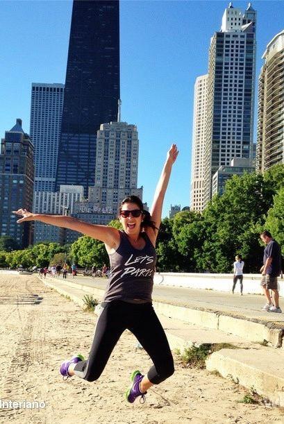 """""""¡Buenos días #Chicago! Comenzando el día con el #SaltodeMaity"""", mostró..."""