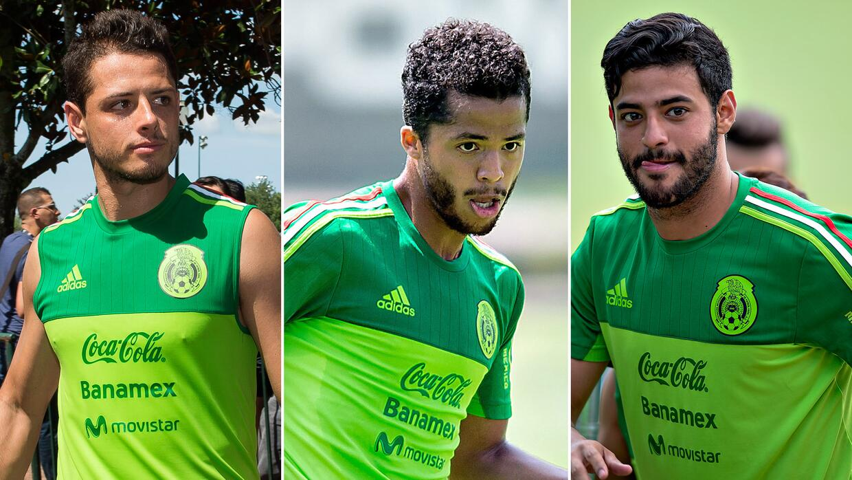 'Chicharito', Vela y 'Gio' serán los atacantes del 'Tri' ante Costa Rica...