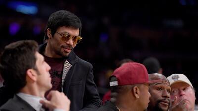 Pacquiao y Mayweather vuelven a encontrarse en partido de la NBA