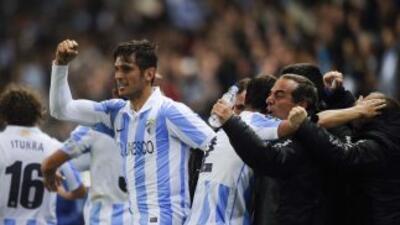 Santa Cruz marcó uno de los goles que le valió la victoria a los malague...