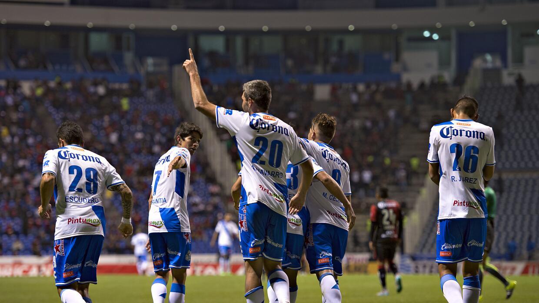 Puebla goleó al Atlas.