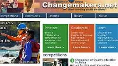 Sitio web de Changemakers, proyecto que anima a emprendedores y organiza...