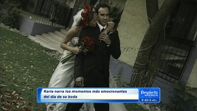Recordando el día de la boda de Karla Martínez