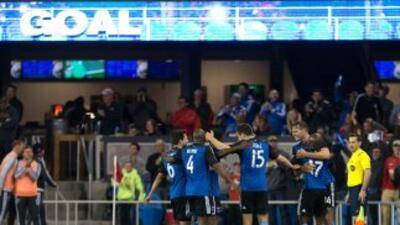 San Jose Earthquakes en plena celebración en Avaya Stadium