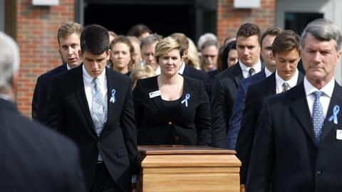 El funeral de Otto Warmbier, el joven que fue liberado en estado de coma...