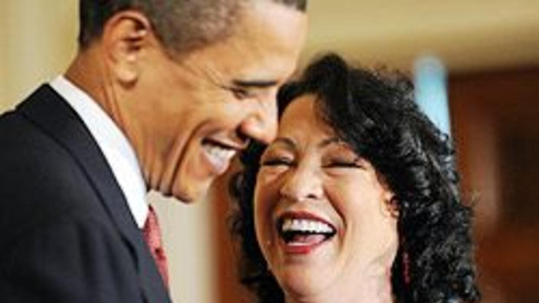 Obama presentó a la flamante jueza de la Corte Suprema, Sonia Sotomayor...