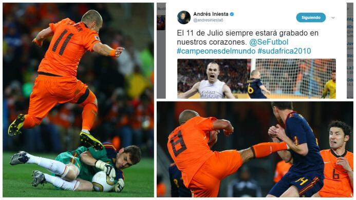 El fallo de Robben y el gol de Iniesta para Jarque: 7 años de España cam...