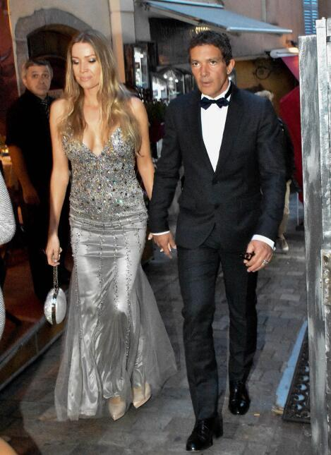 Antonio Banderas, su novia y su hermana gemela