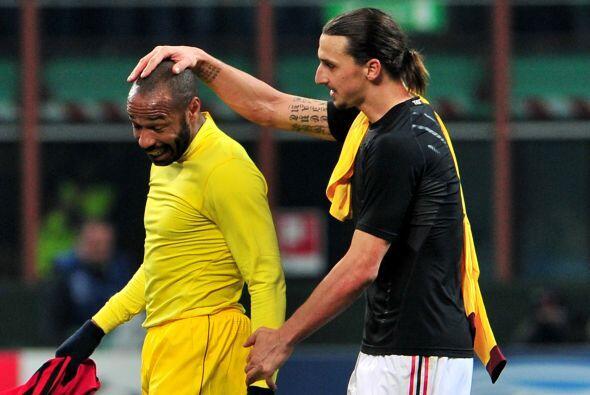 Entre ellos destacó el saludo con Ibrahimovic.