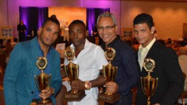 Hairon Socarrás, Guillermo Rigondeaux, Jorge Rubio y Neslan Machado con...