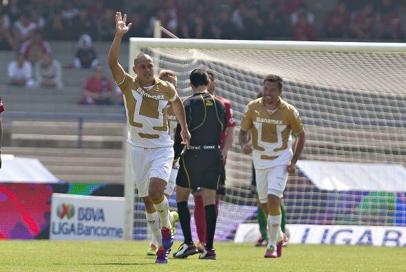 El gol que marcó el domingo ante los Xolos de Tijuana en el triunfo de l...