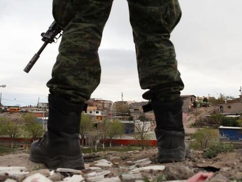 El gobierno mexicano reforzó la presencia militar y de polic&iacu...