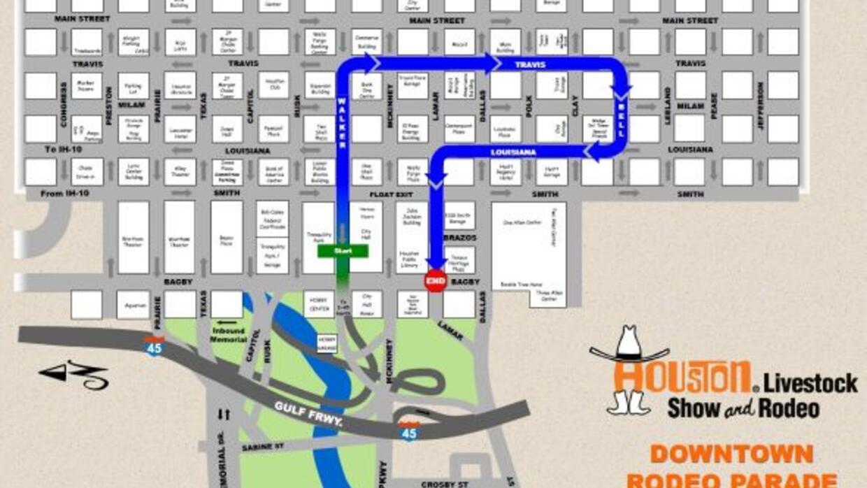 Conozca la ruta que tomará el desfile del Rodeo de Houston este sábado 2...