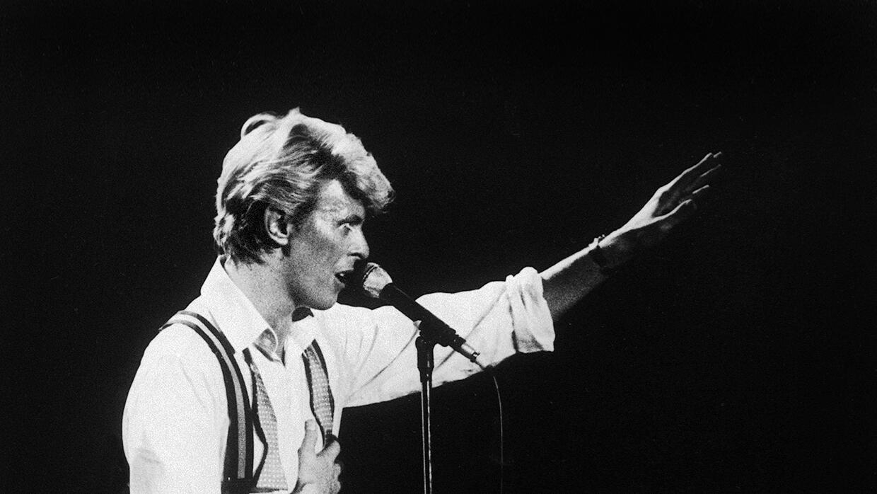 British singer David Bowie performs on stage