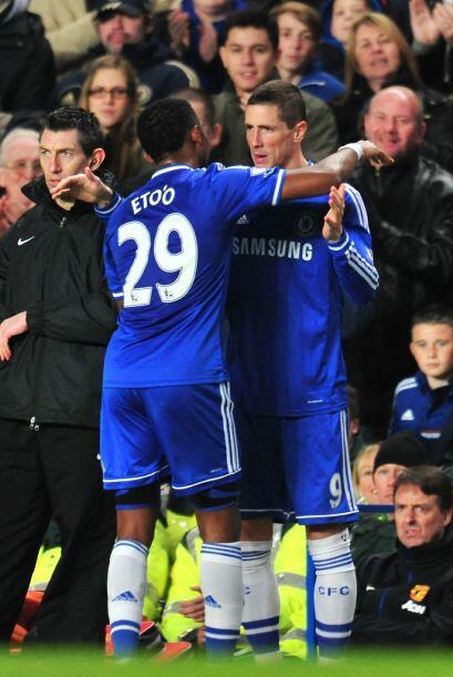 En el tramo final fue sustituido por Fernando Torres, suplente al igual...