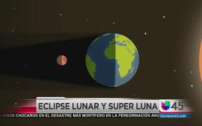 Evento astronómico: eclipse lunar y superluna