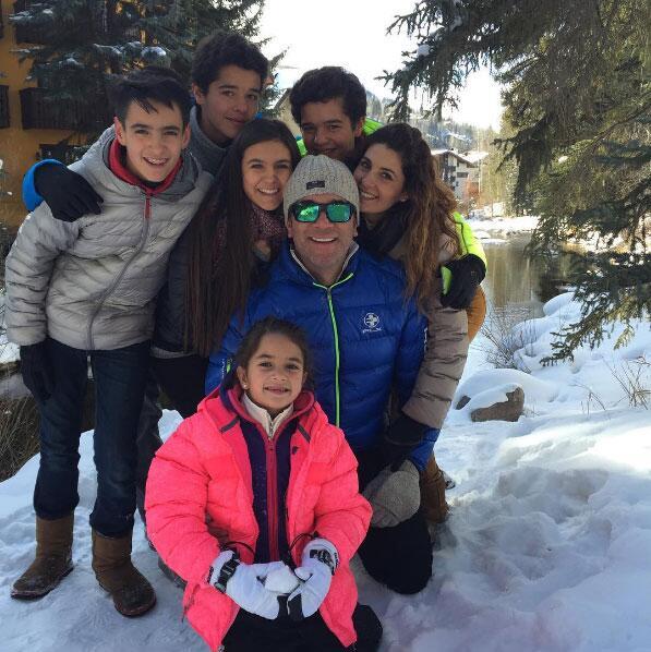 Los hijos de Mayrín Villanueva y Eduardo Santamarina