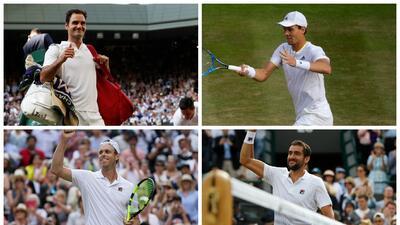 Sin Murray ni Djokovic, así quedaron las semifinales de Wimbledon