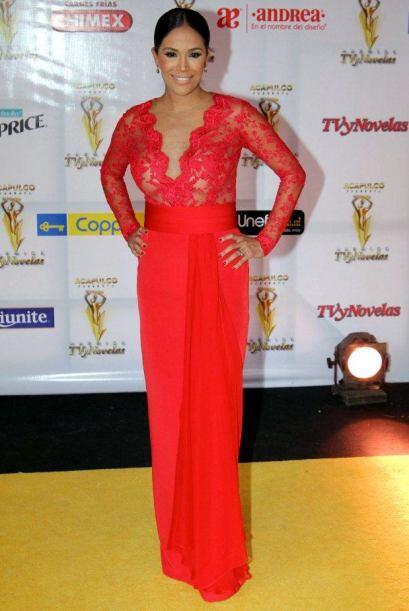 En 2014 desfiló por la alfombra de los Premios TVyNovelas.