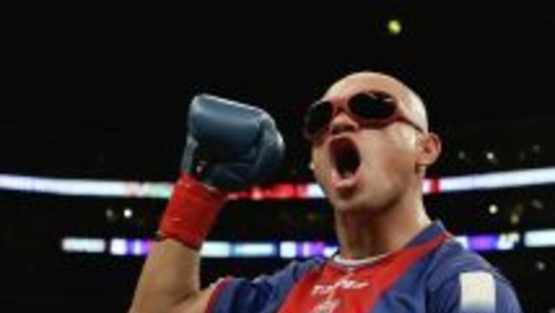 El boxeador argentino Jorge 'La Hiena' Barrios.